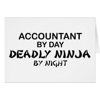 Ninja mortal em a noite - contador cartões