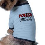 Ninja polonês roupas pet
