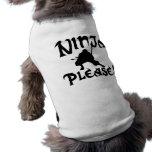 Ninja por favor! roupas para pet
