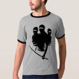 ninjas dos tres camiseta