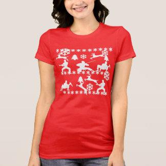 Ninjas & rena que lutam a camisa feia do Natal