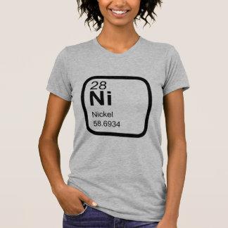 Níquel - design da ciência da mesa periódica camiseta