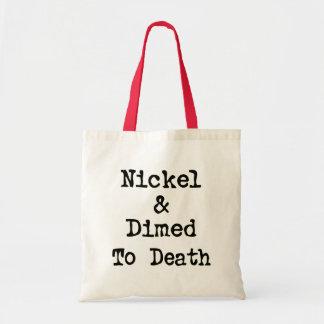 Níquel e Dimed ao slogan da compra da morte Bolsas