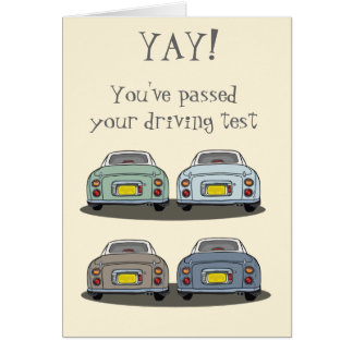 Nissan Figaro Yay! Cartão de Congrats do teste de