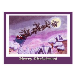Nite antes do cartão do Natal - personalizado