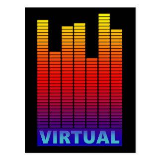 Níveis virtuais cartão postal