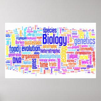 No. 17 de Wordle da biologia Pôster