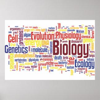 No. 4 de Wordle da biologia Poster