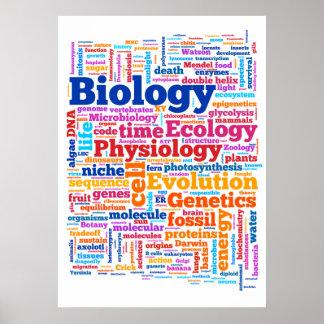 No. 7 de Wordle da biologia Pôster