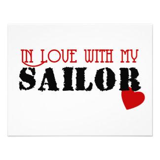 No amor com meu marinheiro convites personalizados