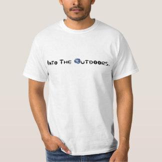 No ar livre camiseta