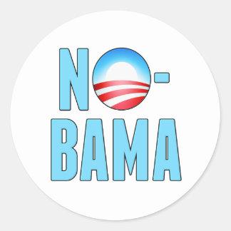 No-Bama anti Obama Adesivo Em Formato Redondo