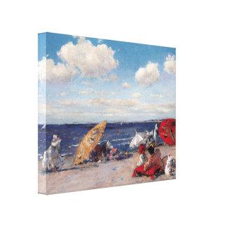 No beira-mar impressão em canvas