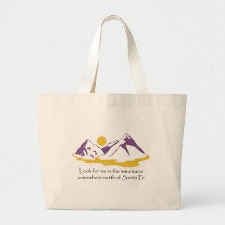 No bolsa do jumbo das montanhas