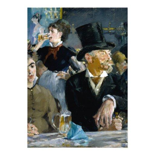 No café por Edouard Manet Convite