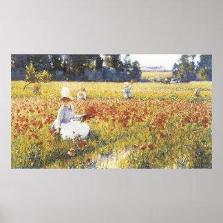 No campo de Flanders, Robert Vonnoh Poster