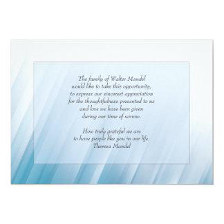 No cartão claro do falecimento convite 12.7 x 17.78cm