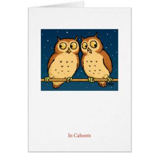 No cartão da coruja de Cahoots