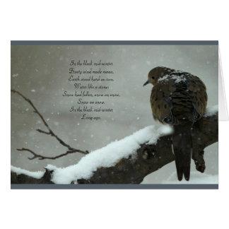 No cartão de Natal desolado de médio-inverno