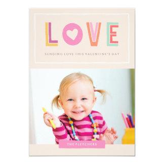 No cartão do dia dos namorados do amor - pêssego convite 12.7 x 17.78cm