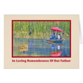 No cartão do dia dos pais da relembrança