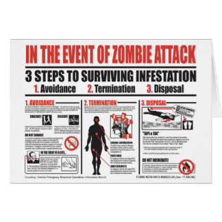 No caso do CARTÃO de NOTA do ataque do zombi