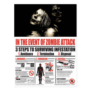 No caso do CARTÃO do ataque do zombi