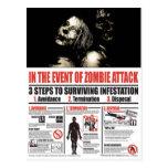 No caso do CARTÃO do ataque do zombi Cartões Postais