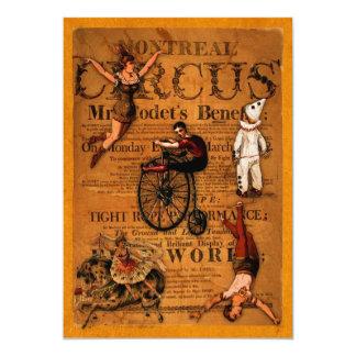 No circo convite 12.7 x 17.78cm