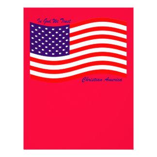 No deus nós confiamos o cristão América do Panfletos