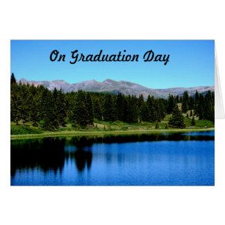 No dia de graduação cartão comemorativo