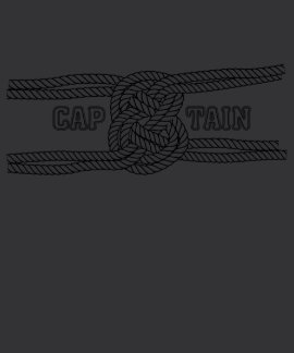 Nó do marinheiro de Capain da corda T-shirts