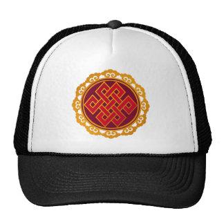 Nó eterno do budismo tibetano das karmas boné