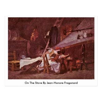 No fogão por Jean-Honore Fragonard Cartão Postal