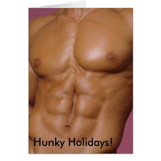 No. Hunky 4 do cartão dos feriados