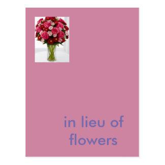 no lugar das flores cartão postal