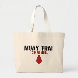 No meu TAILANDÊS de MUAY do sangue Sacola Tote Jumbo