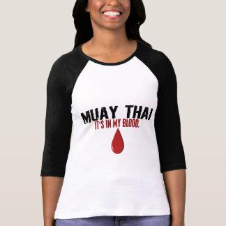 No meu TAILANDÊS de MUAY do sangue Camisetas