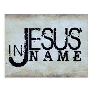 No nome de Jesus Cartão Postal