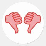 no not dedo polegar OK thumbs down Adesivo