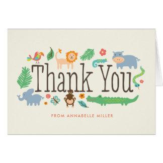 No obrigado da selva você cartões