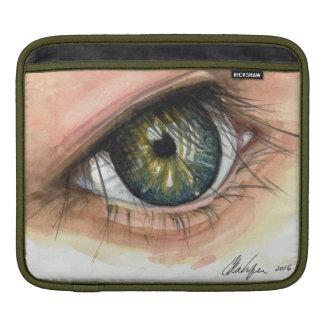 No olho da criança bolsas para iPad