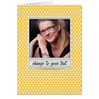 no polkadot amarelo branco & ensolarado cartão de nota