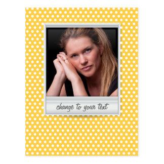 no polkadot amarelo branco & ensolarado cartão postal