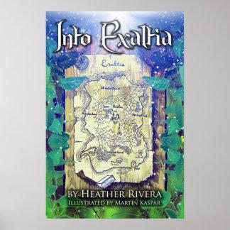 No poster da capa do livro de Exaltia
