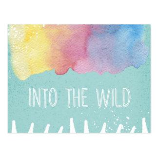 No selvagem - Wanderlust da aguarela de Boho Cartão Postal