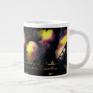No sonho caneca de café gigante