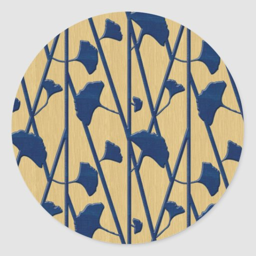 nogueira-do-Japão azul Adesivos Em Formato Redondos