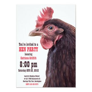 Noite britânica da galinha da festa de solteira convite 12.7 x 17.78cm