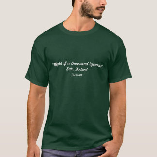 """""""Noite camisola de mil iguanas"""" Camiseta"""
